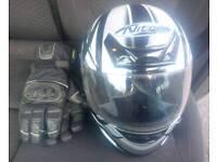 Nitro Racing Motorcycle Helmet And Gloves