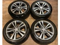 17'' GENUINE MERCEDES E CLASS ALLOY WHEELS TYRES ALLOYS A2124011800 5X112