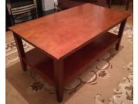 Solid Dark Oak Coffee Table Hardwood - 100cm x 55cm x 45cm