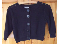 Women's atmosphere black short cardigan with ¾ length sleeve. Size 8/10. Great for party season!