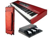 Nord Piano 2 HA88 with triple pedals, Nord case, stand and music stand