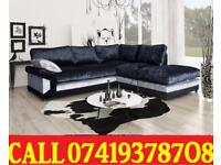 NEW STYLE OFFER 65% OFF DOI CRUSH VELVET 3+2 SEATER FABRIC CORNER SUITE SOFA IN DIFFERENT COLOR