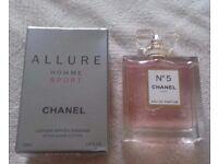 Brand New Chanel no5 perfume & Chanel Allure for men