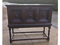 Antique large oak cabinet