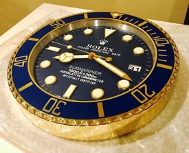 Rolex wall clock brand new boxed