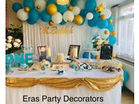 Party decorator/balloon decorations/event planner/backdrop/affordable/birthday/baby shower