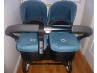 **BUGABOO DONKEY TWIN WITH SOFT PINK ACCESSORIES IN EXCELLENT CONDITION (ONLY SELLING AS A TWIN)**