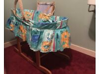 Babies Moses basket and new stand