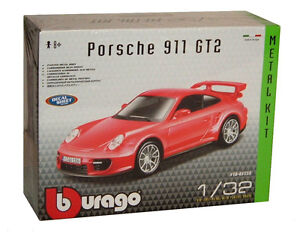 burago porsche 911 gt2 1 32 scale die cast car model kit new ebay. Black Bedroom Furniture Sets. Home Design Ideas