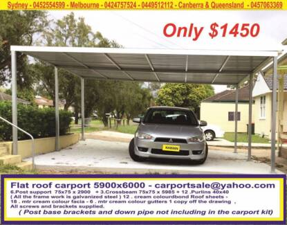 BRAND NEW FLAT ROOF CARPORT 5.9 X 6 NOW WE SALE ONLY $ 1450 Prestons Liverpool Area Preview