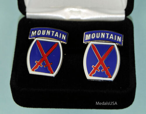 10th Mountain Division US Army Infantry Cuff Links in Gift Box USA Cufflinks