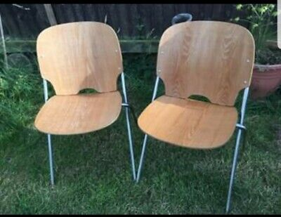 Embru 1960s Ply Chair Retro Stackable (pair)