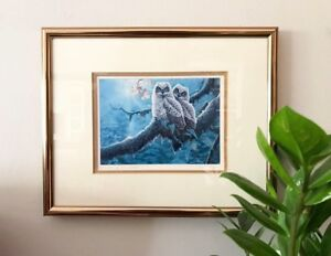 Owl print by Luke Raffin