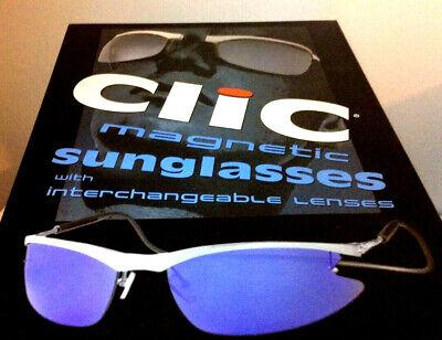 56d1a88d73 RARE CliC Magnetic Sunglasses Aluminum Sport Shield NIB Discontinued Model