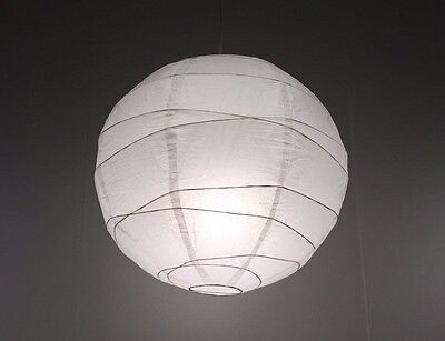 IKEA Regolit Pendant White Rice Paper Lamp Shade. Each handmade shade is unique](Rice Paper Lamp)
