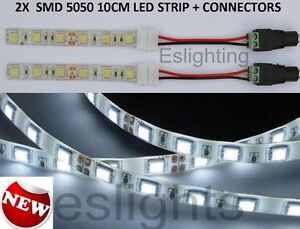 2X12V-5050-10CM-WATERPROOF-LED-STRIP-LIGHT-BARS-CAR-TRUCK-CAMPING-CARAVAN-BOAT
