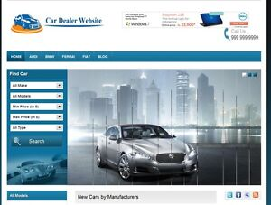 Car Trader Autodealer  Website for Sale Online Business
