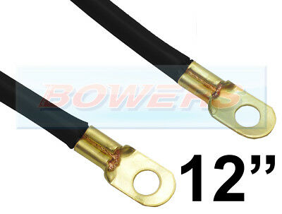 """12"""" INCH 300mm CAR BATTERY BLACK EARTH EARTHING NEGATIVE LEAD CABLE WIRE STRAP"""