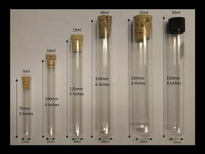 100 Count Glass Test Tubes With Cork Stopperscaps