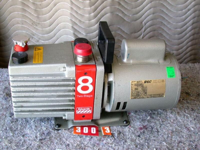 Edwards E2M8 High Vacuum Pump 2-stage w/GEC motor 1Ph type BC2511/12;DP