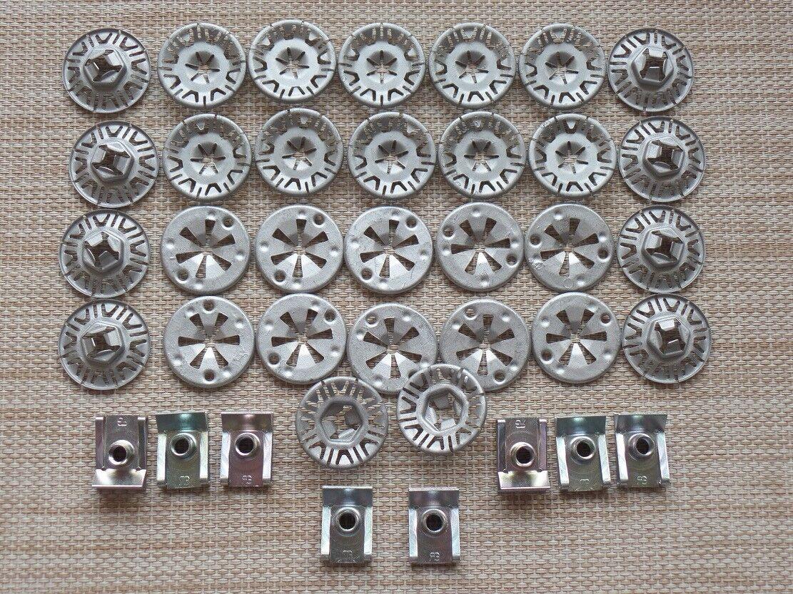 10 Schrauben Radlaufabdeckung Unterfahrschutz Unterboden für BMW Opel Ford VW