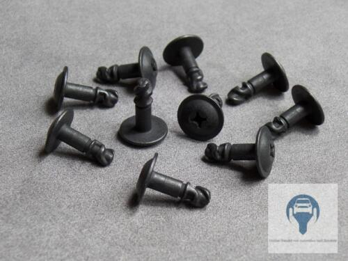 10X Motor Protection Skid Plate Metal Clips Screw for BMW 5 E39, 7 E38