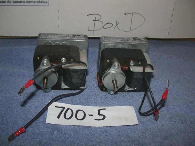 Rex Engineering E69447 Class B AC Gear Motor 120V 60Hz