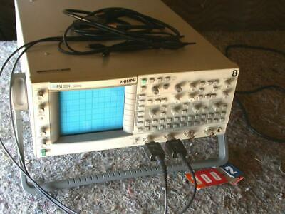 Fluke Philips Pm3094 200 Mhz Oscilloscope 4 Channel 2 Probes Tested Working