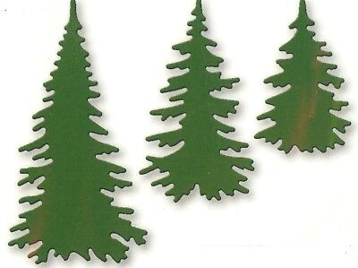 Pine Trees Small Christmas Winter Die Cuts 1 1/4