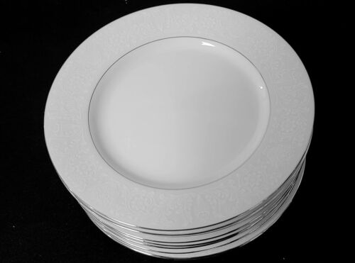 """8 SALAD PLATES 7 1/2"""" Lovelace by Crown Victoria  (16 IN STOCK)"""