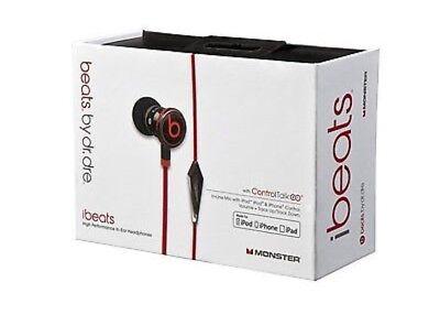 Genuine Monster Beats by Dr Dre iBeats In Ear Headphones Earphones Black