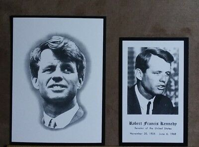Robert F  Kennedy Original Funeral Prayer Cards  2  Large And Small
