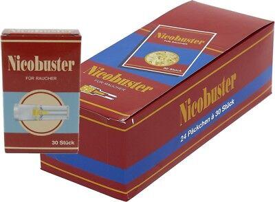 24 Nicobuster Micro Filter Zigarettenspitze  30er Pack=Originial Display