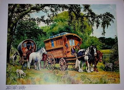 """Artwork - Paintings - Prints """"The Travellers"""" by the Alderson twin sisters"""