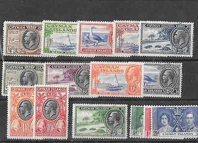 Cayman Islands Scott # 85 - 96 set VFLH.