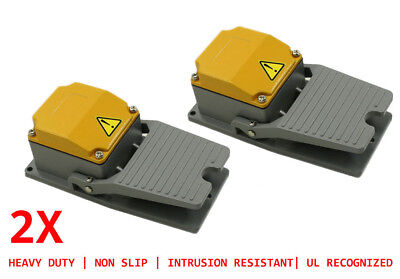 2 Pc Heavy Duty Foot Switch Industrial Foot Pedals Momentary Switch 15a 2xl1