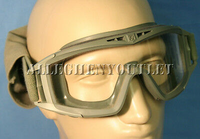 REVISION Desert Locust SAND WIND DUST GOGGLES Military ACU Green Clear Lens VGC