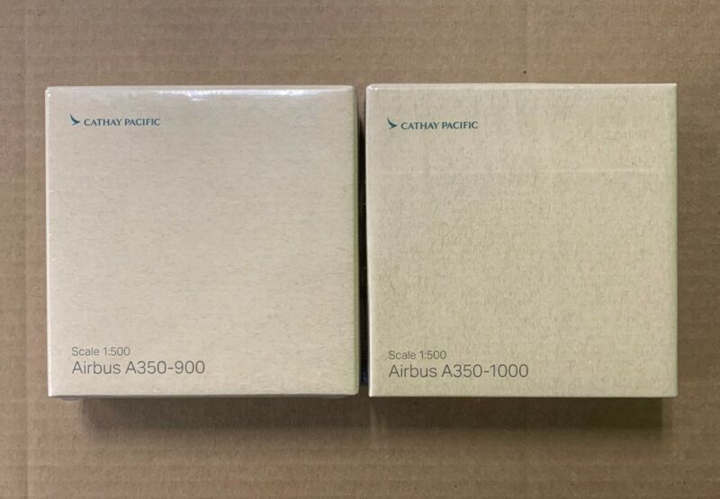 Airbus A350-1000 A350-900 Cathay Pacific 1:500 Set Brand New Sealed!!