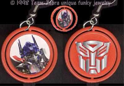Punk Funky OPTIMUS PRIME TRANSFORMERS SPINNER EARRINGS Cosplay Costume Jewelry (Female Optimus Prime Costume)
