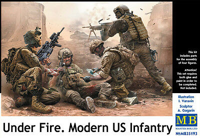MASTER BOX™ 35193 Modern US Infantry Under Fire in 1:35