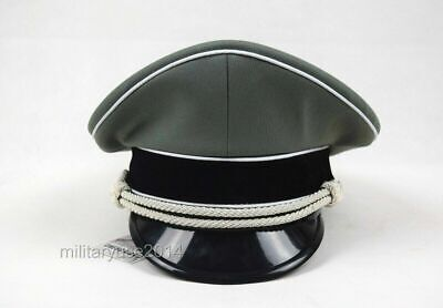 Military Vintage WW2 WWII German Elite Whipcord Officer Hat Officer Cap size L