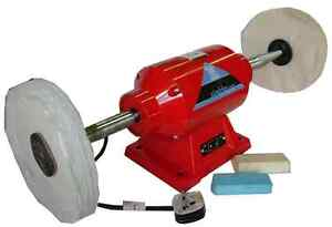 BENCH-POLISHER-AND-BUFFER-8-WITH-COMPOUND-TWO-MOPS