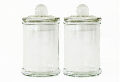 10 Mini French Apothecary Glass Favor Candy Macaron Treat Jars w/Lid 150ml ()
