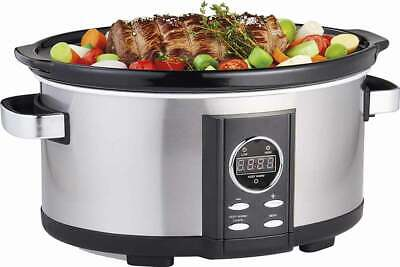 Gastronoma 18280000 Digitaler Pulled Pork Slow-Cooker Schon-Garer Schmortopf Schmortopf Slow Cooker