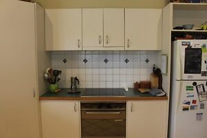 Complete Kitchen | White Cupboards with Jarrah Wood Top Lower Mitcham Mitcham Area Preview