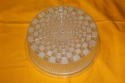 DDR Tortenplatte mit Deckel aus Kunststoff Kuchenplatte Kuchen Platte mit Haube ()