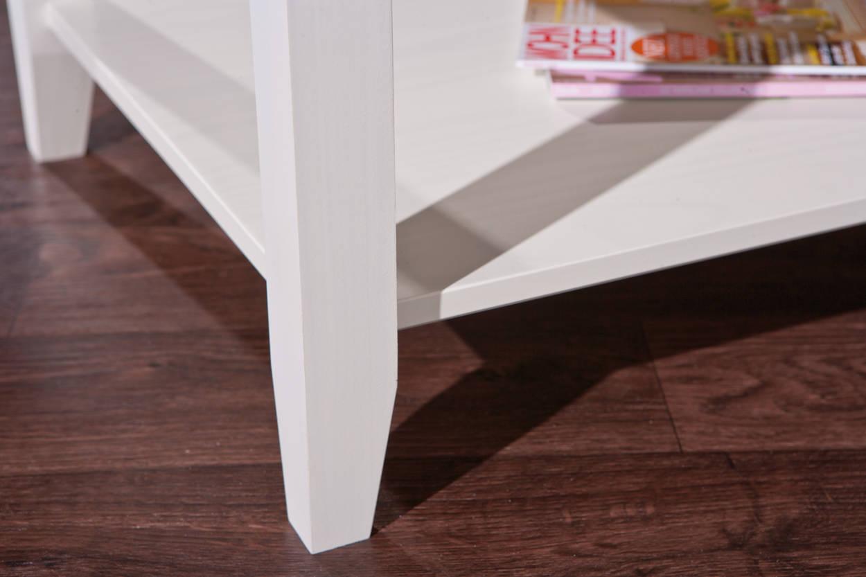 tisch couchtisch beistelltisch wei braun massivholz. Black Bedroom Furniture Sets. Home Design Ideas