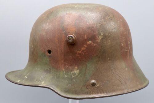 Original German WWI M1916 Named Camouflaged Helmet