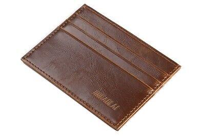 Extra Flache Mini Ledergeldbörse / Scheckkartenetui / Brieftasche für Herren - Flache Geldbörse