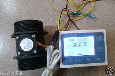 New G 2 Inch Flow Water Sensor Meterlcd Digital Display Controller